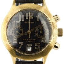 Poljot Chronograph 37mm Automatic pre-owned Black