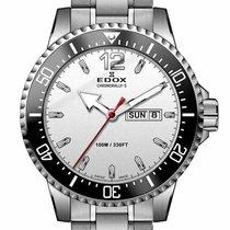 Edox Steel 44mm Quartz 84300-3M-ABN new