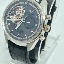 Zenith Platinum Automatic Grey No numerals 42mm new El Primero Chronomaster