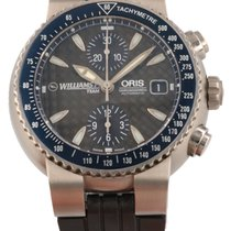 Oris Williams F1 Stal 44mm Czarny Bez cyfr