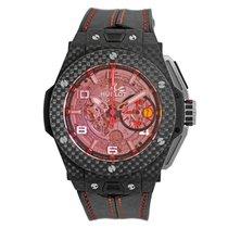 Hublot Big Bang Ferrari gebraucht 45mm Transparent Chronograph Flyback-Funktion Datum Faltschließe