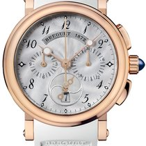 Breguet Marine Rose gold 34.6mm Mother of pearl Arabic numerals