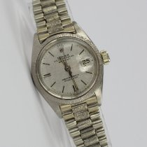 Rolex White gold Automatic Grey 26mm pre-owned Lady-Datejust