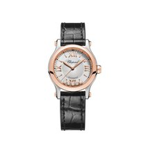 Chopard Happy Sport Or/Acier 30mm Argent Romain