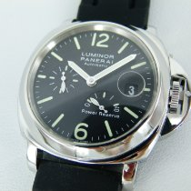 Panerai Steel Automatic Black Arabic numerals 44mm pre-owned Luminor Power Reserve