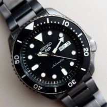 Seiko 5 Sports Acero 42.5mm Negro Sin cifras