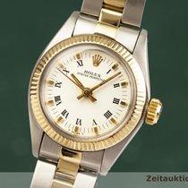 Rolex Oyster Perpetual 26 Złoto/Stal 25mm Biały