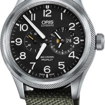 Oris Big Crown ProPilot Worldtimer Steel 44.7mm Black Arabic numerals United Kingdom, Hemel Hempstead, Hertfordshire