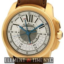 Cartier new Manual winding 45mm Rose gold Sapphire crystal