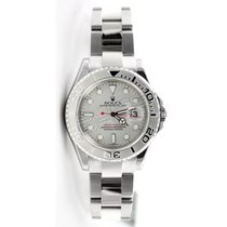 Rolex Yachtmaster 168622 Mid Size Stainless Steel, Platinum...