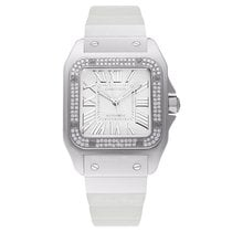 Cartier White gold Automatic White 32mm new Santos 100
