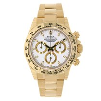 Rolex Daytona 18K Yellow Gold White Dial Watch 116508
