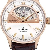 Edox 37mm Automatik neu Les Vauberts Silber