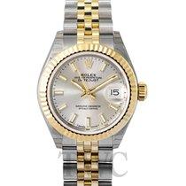Rolex Lady-Datejust Ouro amarelo 28mm Prata