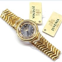Juvenia Yellow gold 27mm Quartz N/12BR F224 new