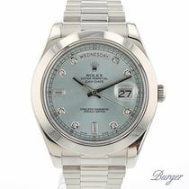 Rolex Day-Date II Platinum Ice Blue Diamonds