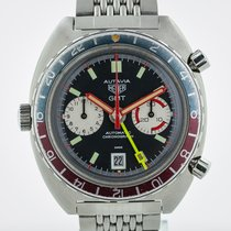Heuer Chronograph 42.4mm Automatic 1973 pre-owned Black