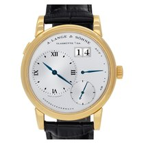 A. Lange & Söhne Yellow gold Manual winding Silver Roman numerals 39mm pre-owned Lange 1