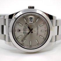 Rolex Datejust II Stahl 41mm Silber Keine Ziffern Deutschland, Oberpframmern