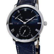 Frederique Constant Silver Automatic Brown 40mm new Manufacture Slimline