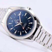 Omega Steel Automatic Blue Arabic numerals 43mm new Seamaster Aqua Terra