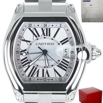 Cartier Roadster Steel 48mm Silver Roman numerals United States of America, New York, Smithtown