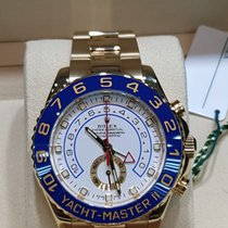 Rolex Yacht-Master II Or jaune 44mm Blanc Sans chiffres