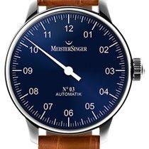 Meistersinger N° 03 Steel 43mm Blue Arabic numerals