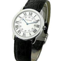 Cartier W6700255 Ronde Louis Cartier in Steel - on Black...