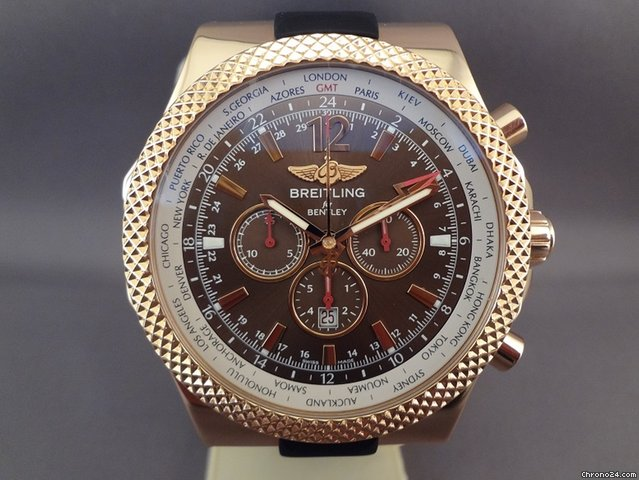 Breitling Bentley Watches >> Breitling Bentley Gmt Chrono 18k Pink Gold Limited 100 Pcs