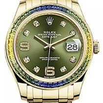 Rolex Pearlmaster 39 86348SABLV Olive Green Diamond Set with...