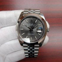 Rolex Datejust 41 Rhodium Index Dial Jubilee Bracelet