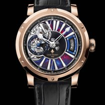 Louis Moinet Metropolis Rose gold 43,2mm Blue