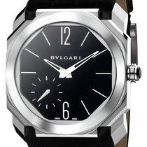 Bulgari Platinum Manual winding Black Arabic numerals 40mm new Octo