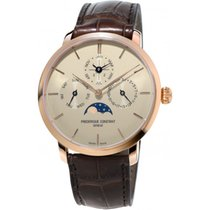 Frederique Constant Rose gold Automatic new Manufacture Slimline Perpetual Calendar