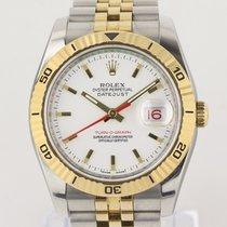 Rolex Datejust Turn-O-Graph Gold/Stahl 36mm Weiß Keine Ziffern