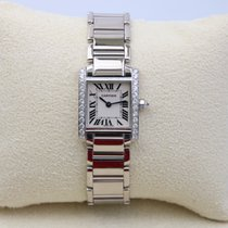 Cartier Tank Française pre-owned 20mm Silver White gold