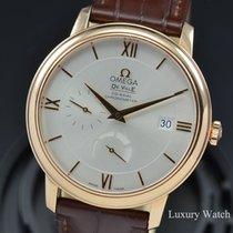 Omega Rose gold Automatic Silver No numerals 39.5mm pre-owned De Ville Prestige