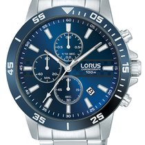 Lorus Steel 44mm Quartz RM303FX9 new