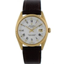 Rolex Oyster Perpetual Date Yellow gold 34mm White United States of America, New York, New York