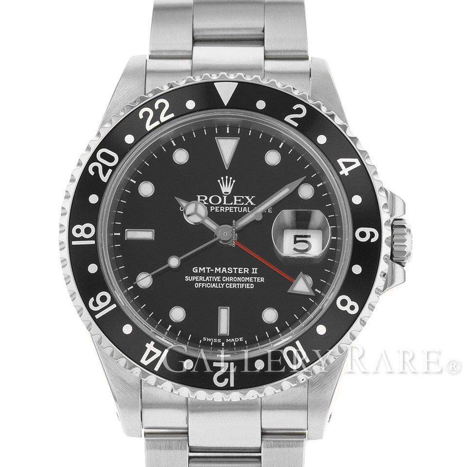 quality design 595a9 47637 Rolex GMT-Master II Black Bezel Stainless Steel 40MM