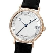 Breguet new Automatic Center Seconds Gemstone 33.5mm Rose gold Sapphire crystal