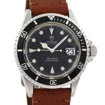 Tudor Style Steel 40mm Black No numerals