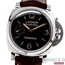 Panerai Luminor Marina 1950 3 Days Stal 47mm Czarny Arabskie