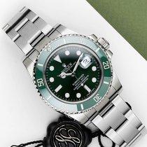 Rolex Submariner Date Aço 40mm Verde