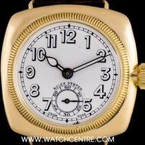 Rolex 18k Y/G Porcelain Dial Cushion Case Vintage Gents...