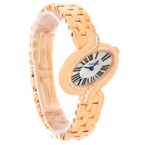 Cartier Delices Small 18k Rose Gold Diamond Watch Wg800003