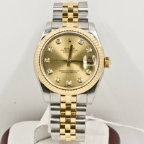 Rolex Lady-Datejust 178273 Champagne Diamond Dial Box & Papers