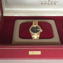 Rolex Oyster Perpetual Lady Date Gult gull 26mm Svart Ingen tall Norge, Holmestrand
