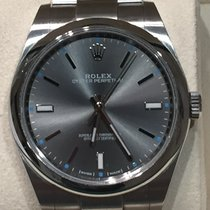 Rolex Oyster Perpetual Rhodium Dial 39mm Stainless Steel - 114300